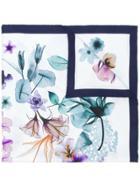 Salvatore Ferragamo Floral-print Scarf - Blue
