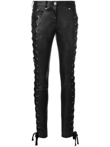 Versus - Zayn X Versus Lace-up Skinny Trousers - Women - Cotton/polyester - 27, Black, Cotton/polyester