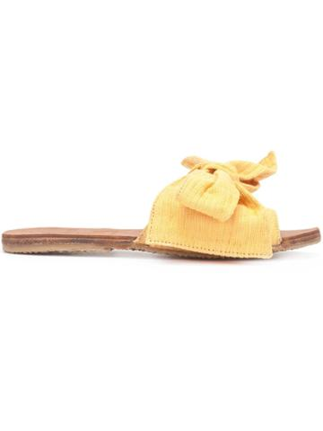 Brother Vellies Bow Sliders - Yellow