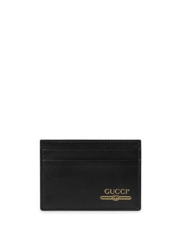 Gucci Money Clip With Gucci Logo - Black
