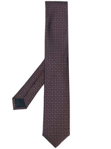 Corneliani Jacquard Tie - Pink & Purple