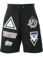 Ktz Patched Denim Shorts