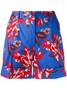 P.a.r.o.s.h. Printed Shorts - Blue
