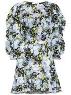 Les Reveries Floral Print Mini-dress - Black