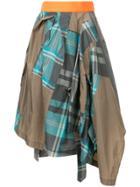 Kolor Patchwork Napkin Skirt - Grey