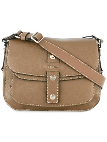 Furla Shoulder Bag, Women's, Brown, Calf Leather