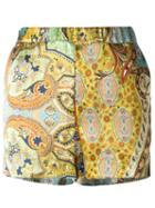 Ermanno Gallamini Paisley Print Shorts