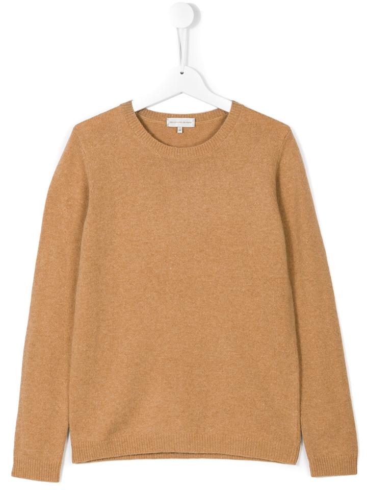 Les Coyotes De Paris Teen Classic Knitted Sweater - Brown