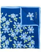 Kiton Floral Scarf - Blue
