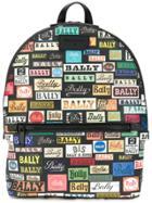 Bally Logo Print Backpack - Black