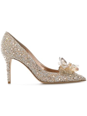 Jimmy Choo Alia Crystal Pumps - Metallic