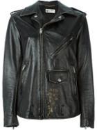 Saint Laurent Distressed Oversize Biker Jacket