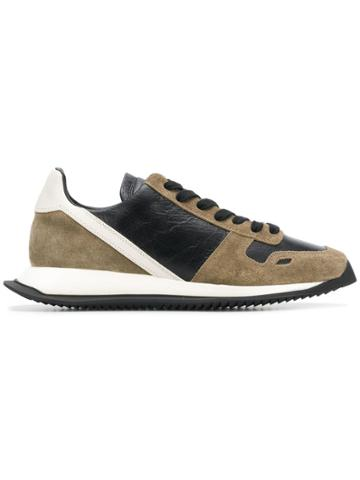 Rick Owens Panelled Lace-up Sneakers - Nude & Neutrals