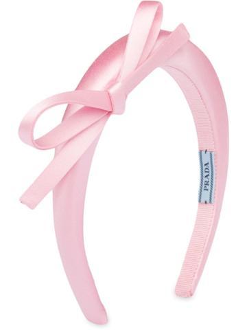 Prada Satin Bow Hairband - Pink