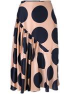 Stella Mccartney Large Polka Dot Print Skirt, Women's, Size: 38, Pink/purple, Silk