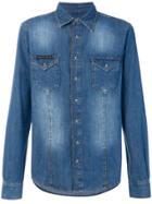 Philipp Plein Washed Denim Shirt - Blue