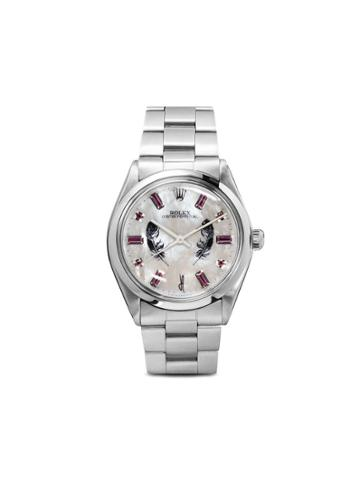 Jacquie Aiche Rolex Oyster Perpetual Feather 40mm - Metallic