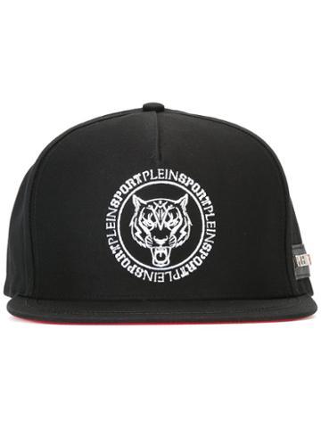 Plein Sport Logo Embroidered Cap, Men's, Black, Cotton
