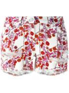 Giamba Cherry Blossom Print Shorts