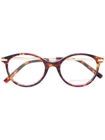 Boucheron - Round Frame Glasses - Women - Acetate/metal - 50, Brown, Acetate/metal