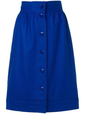 Yves Saint Laurent Vintage Ysl Skirt - Blue