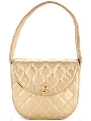 Chanel Vintage Turn-lock Box Handbag - Metallic