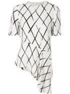 Balenciaga Printed Asymmetric Hem Blouse
