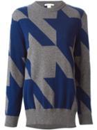 Antonio Berardi Houndstooth Intarsia Sweater