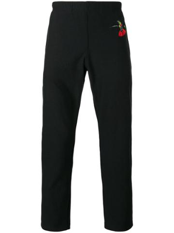 Alexander Mcqueen - Swallow Print Tapered Trousers - Men - Organic Cotton - L, Black, Organic Cotton