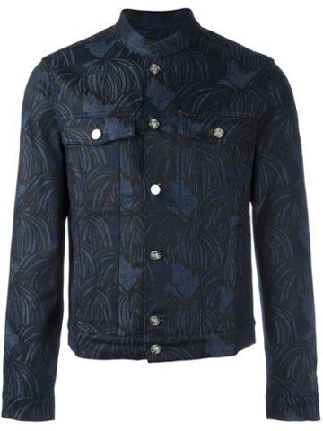 Kenzo 'hairs' Denim Jacket, Men's, Size: Large, Blue, Cotton/spandex/elastane