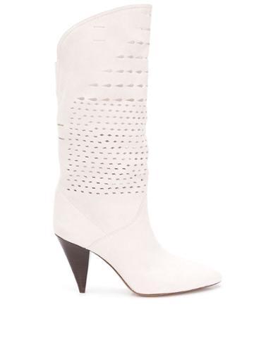 Isabel Marant Lurrey 90 Boots - White