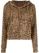 Nili Lotan Leopard Print Hoodie - Brown