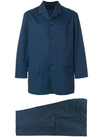 Prada Vintage Two Piece Suit - Blue