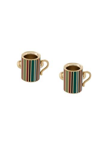 Paul Smith Signature Stripe Mug Cufflinks - Gold