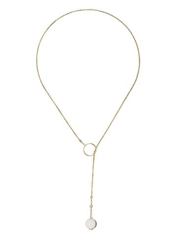 Raphaele Canot 18kt Yellow Gold Set Free Agate And Diamond Necklace