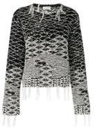Saint Laurent Berber Jacquard Sweater - Black