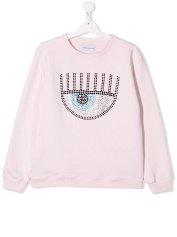 Chiara Ferragni Kids Flirting Sweatshirt - Pink