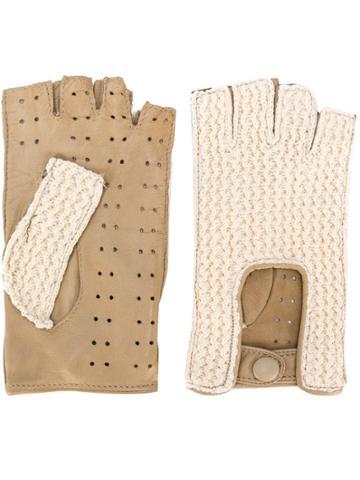 Gala Gloves Fingerless Driving Gloves - Brown