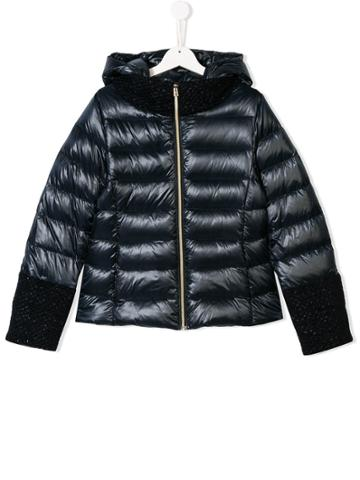 Herno Kids Teen Padded Hooded Jacket - Blue