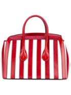 Bally - Striped Tote - Women - Leather - One Size, Red, Leather