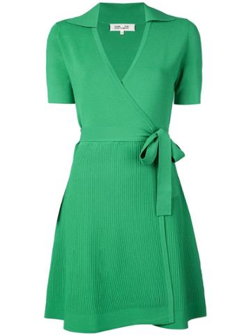 Dvf Diane Von Furstenberg Kyra Mini Wrap Dress - Green