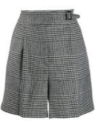 Ermanno Scervino Check Print Shorts - Black