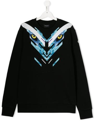 Marcelo Burlon County Of Milan Kids Eyes Print Sweatshirt - Black