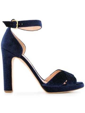 Rupert Sanderson Starry Velvet Sandals - Blue
