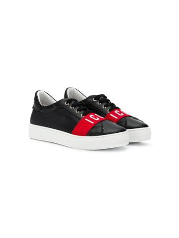 Dsquared2 Kids Icon Strap Lo-top Sneakers - Black