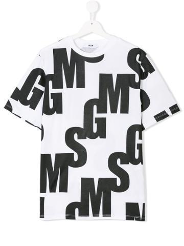 Dolce & Gabbana Kids Logo Print T-shirt - White