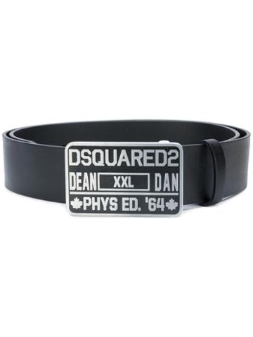 Dsquared2 - Phys Ed Buckle Belt - Men - Leather - 85, Black, Leather