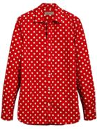 Burberry Polka-dot Shirt - Red