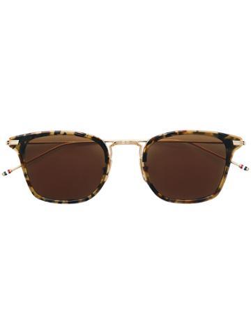 Thom Browne Eyewear Square Shaped Sunglasses - Metallic