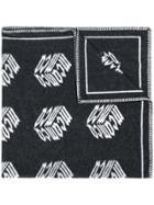 Mcq Alexander Mcqueen Mcq Cube Blanket Scarf - Black